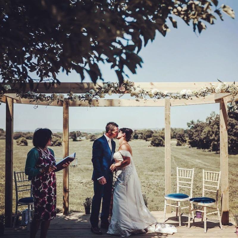 wedding celebrant - Farm Wedding on the beautiful Somerset Levels