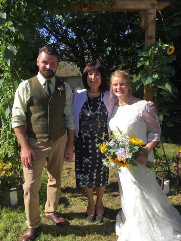 Wedding Celebrant - Wedding Ceremony in garden at home