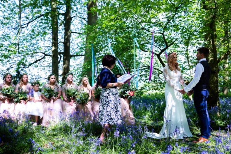 Somerset Wedding Celebrant -  Outdoor Woodland Ceremony