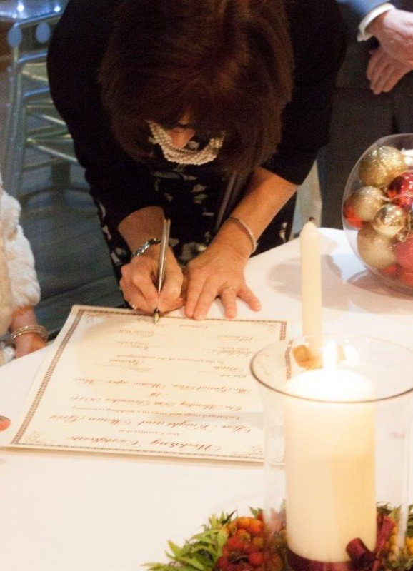 Wedding Celebrant - Parchment Signing Ceremony