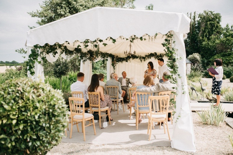 wedding celebrant - an intimate  garden wedding
