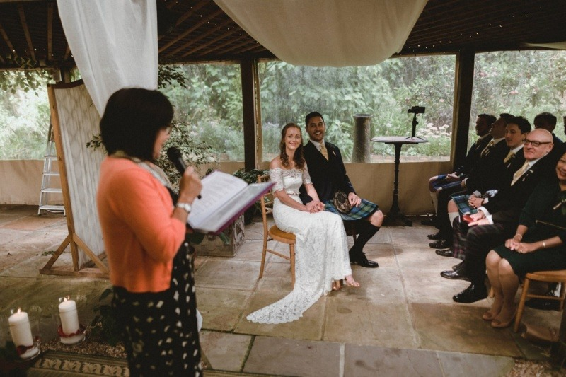 wedding celebrant - Boho Wedding with Kilts